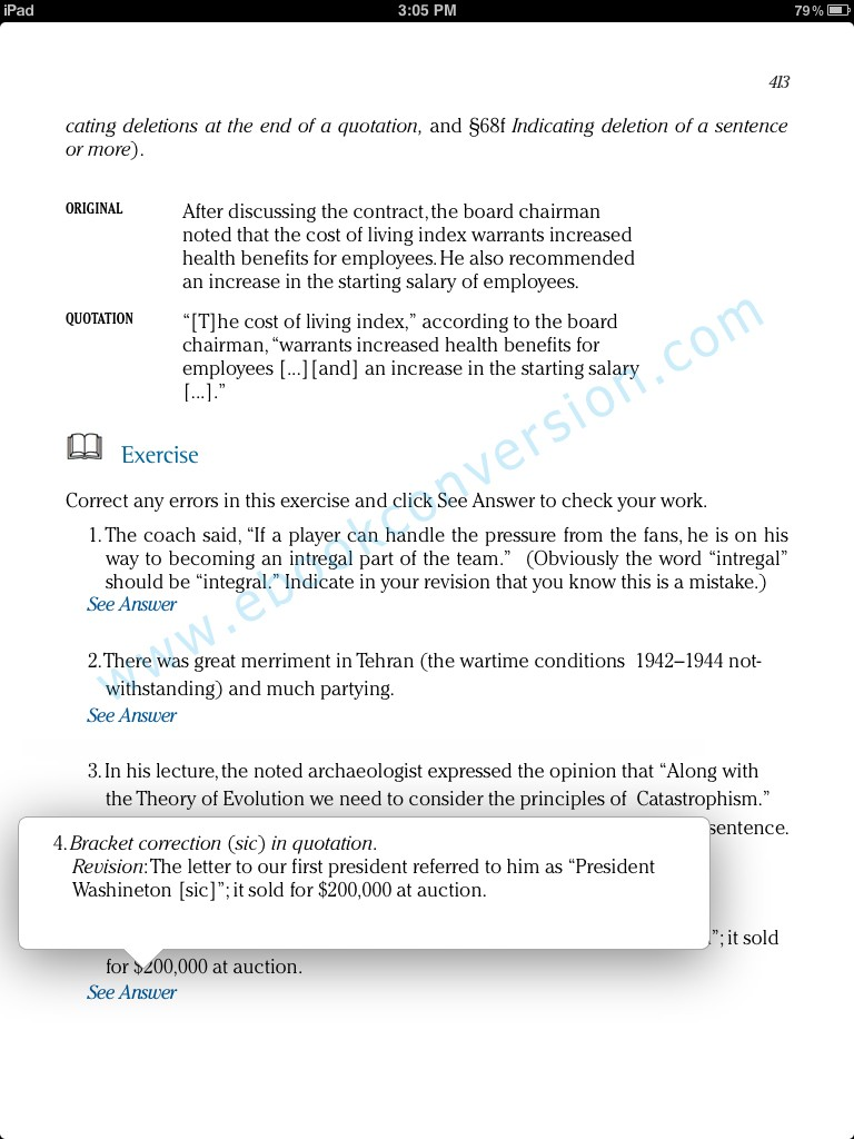 iBook Author sample page